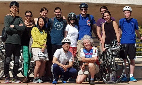 Photo of a group that took a bike ride to Olbrich Garden