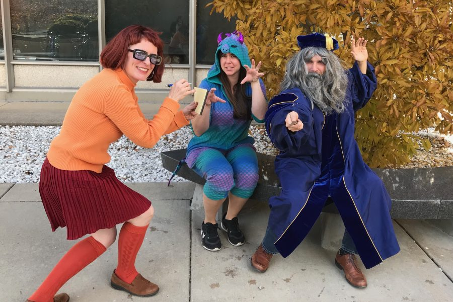 Sociology faculty, staff and students having fun in costume on Halloween