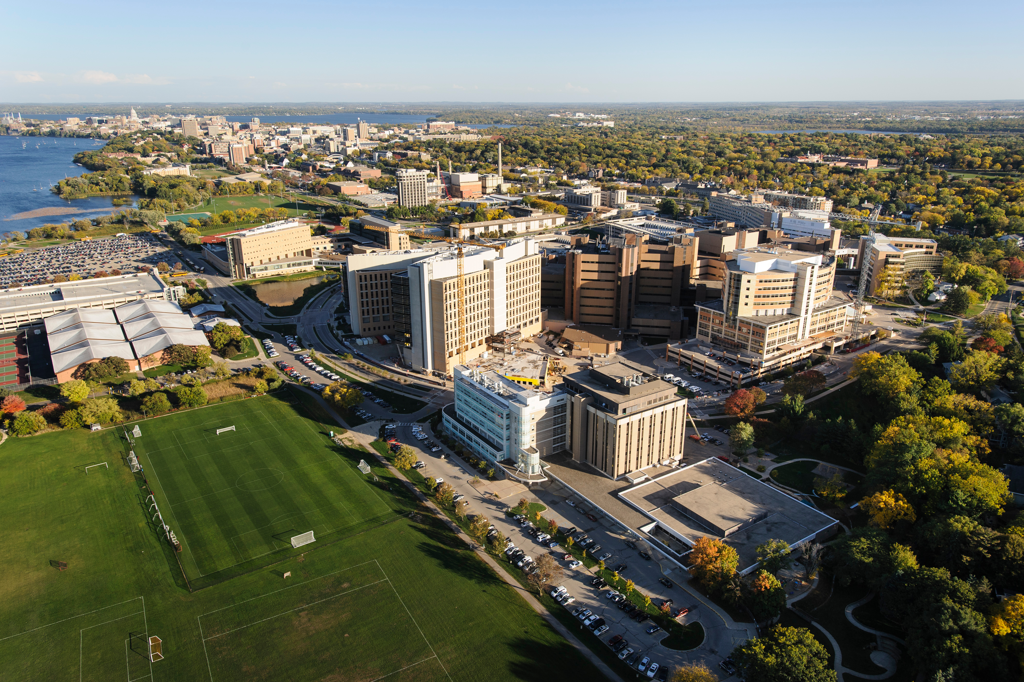 The medical area of University of Wisconsin-Madison