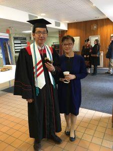 Undergraduate student, Sociology major, at graduation