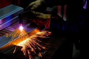 photo of metal welder