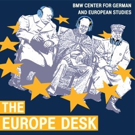 Logo for The Europe Desk Podcast