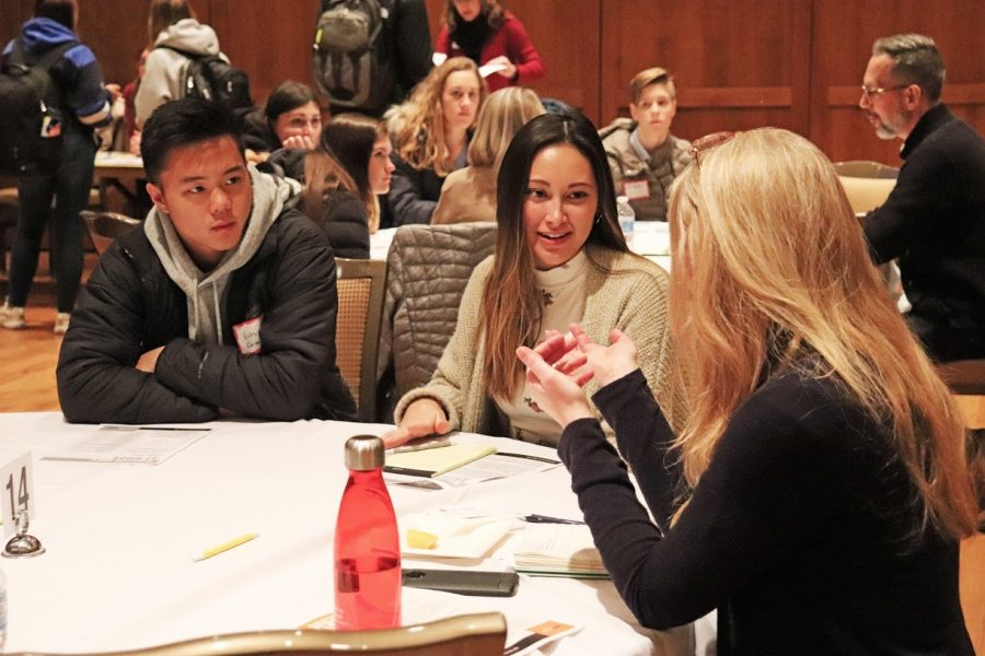 Undergraduate students participate in Sociology at Work event