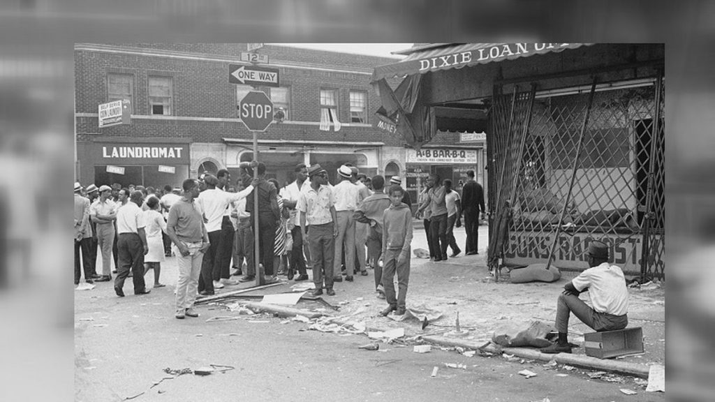 historical photo of race riots